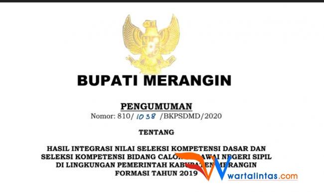Daftar Peserta Lulus Tes Cpns Kabupaten Merangin 2020